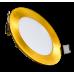 Светильник светодиодный круглый (хром/никель/золото)