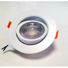 Светильники светодиодные встраиваемый поворотный круглый